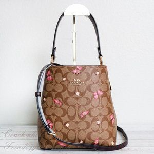 NWT Coach Town Bucket Bag with Butterfly Print
